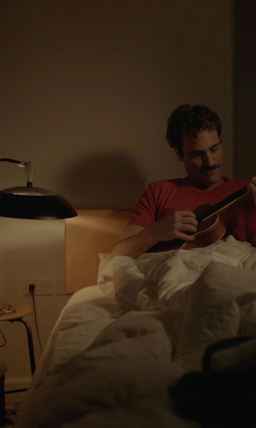 Joaquin Phoenix with Adesso Scholar LED Desk Lamp in Her