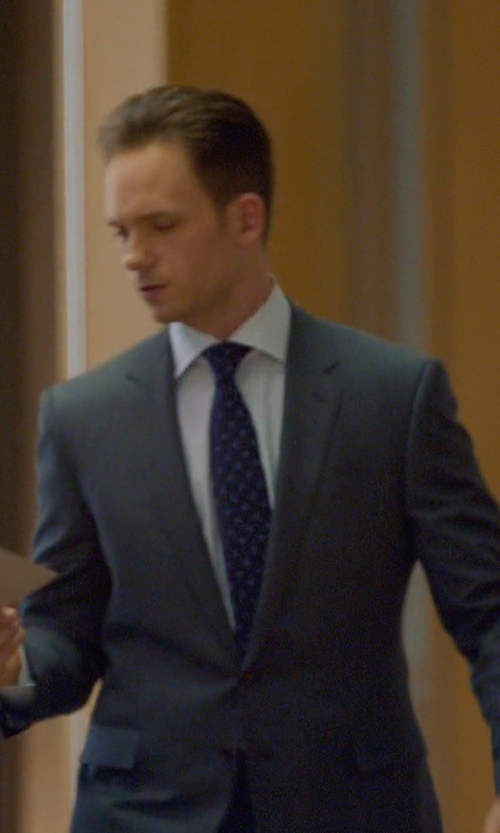 Patrick J. Adams with Ralph Lauren Anthony Sharkskin Suit in Suits