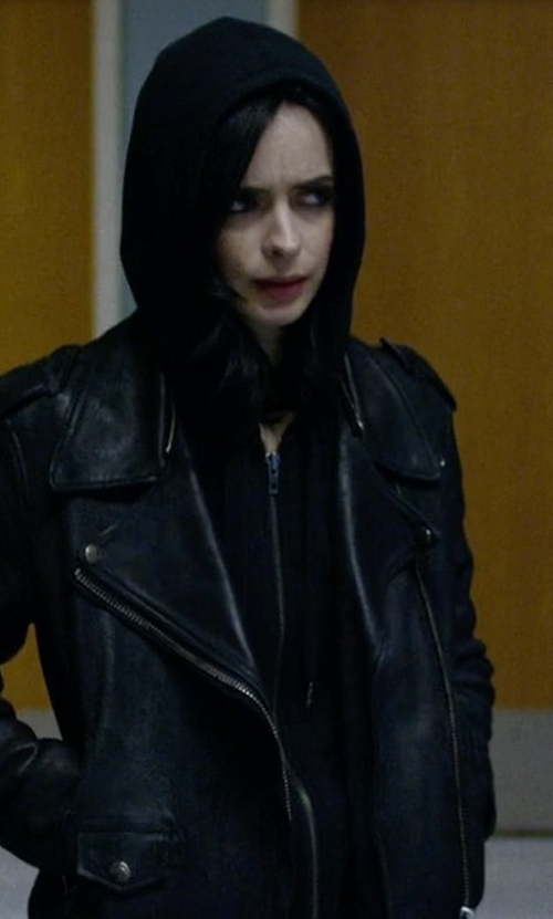 Krysten Ritter with Fine By Superfine Cosmic Hoodie  in Jessica Jones