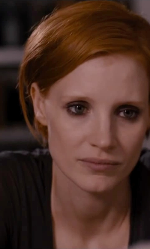 Jessica Chastain with BLK DNM Sleeveless Top in The Disappearance of Eleanor Rigby