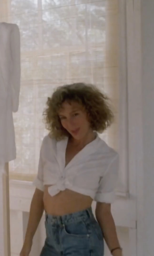 Jennifer Grey with Splendid Rayon Voile Long Sleeve Top in Dirty Dancing