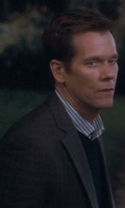 Kevin Bacon with J. Crew Slim Cashmere V-Neck Sweater in Crazy, Stupid, Love.
