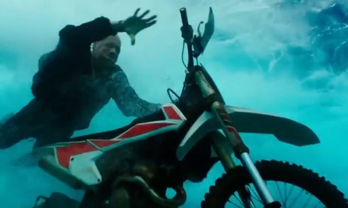 Vin Diesel with Kawasaki KLX 140G Dirt Bike in xXx: Return of Xander Cage