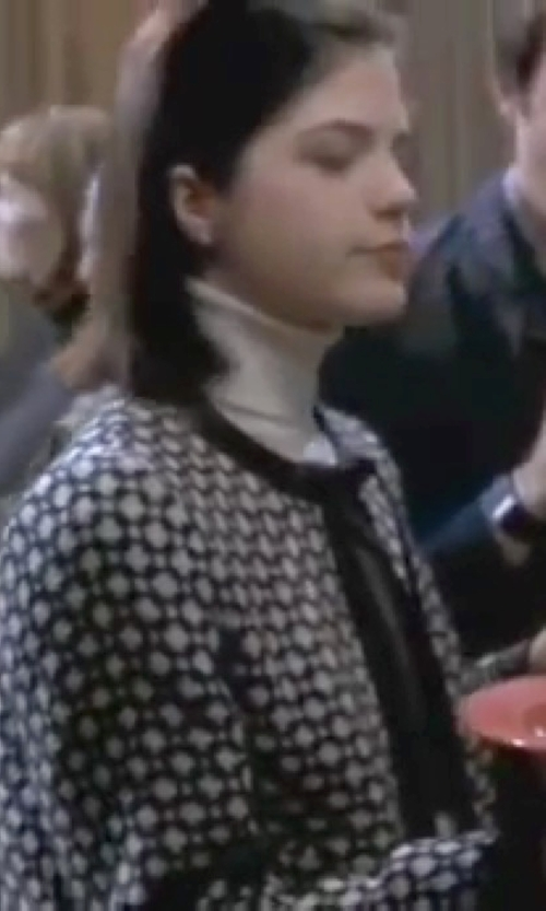 Selma Blair with Armani Collezioni Round Collar Blazer in Legally Blonde