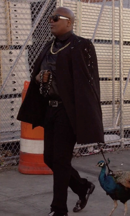 Tituss Burgess with Theory Haydin Writer Straight-Leg Pants in Unbreakable Kimmy Schmidt