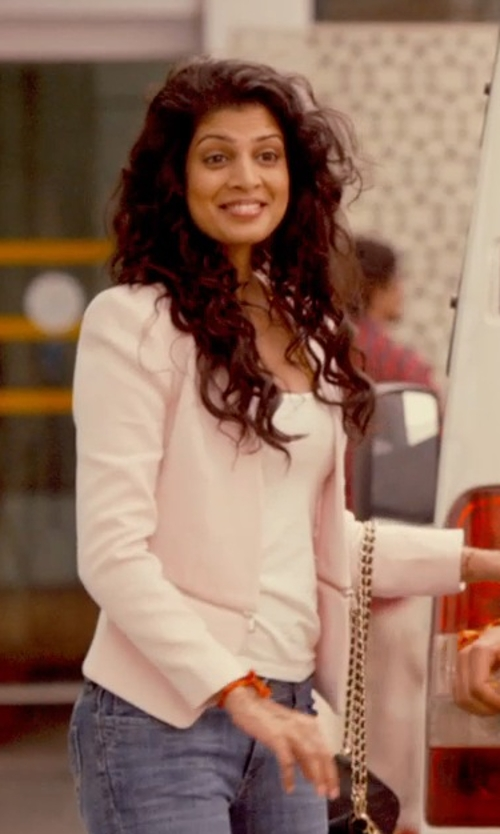 Tena Desae with Armani Collezioni Sleeveless Tank Top in The Second Best Exotic Marigold Hotel