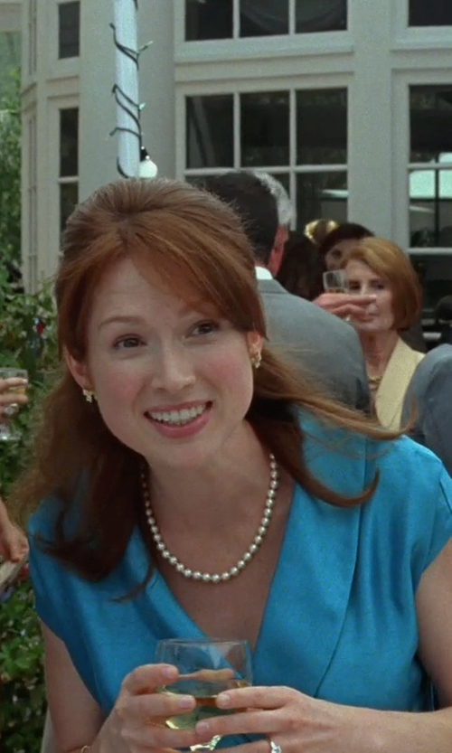 Ellie Kemper with Tara Pearls Akoya Cultured Pearl Necklace in Bridesmaids