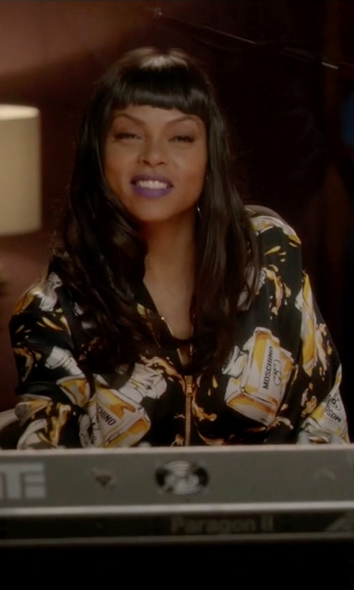 Taraji P. Henson with Moschino Resort 16 Collection Dress in Empire