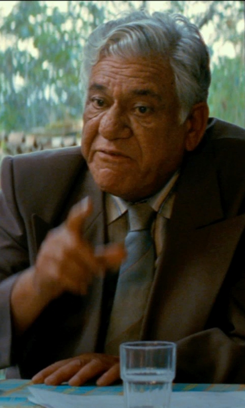 Om Puri with Barneys New York Two-button Suit Jacket in The Hundred-Foot Journey