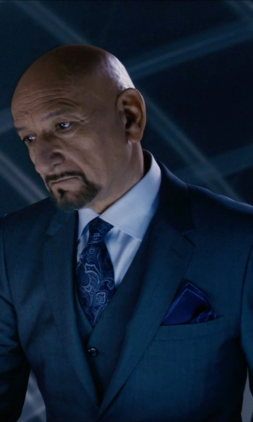 Ben Kingsley with Paul Smith Three Piece Suit in Self/Less