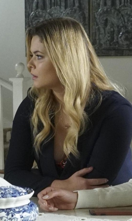 Sasha Pieterse with H&M V-Neck Camisole Top in Pretty Little Liars