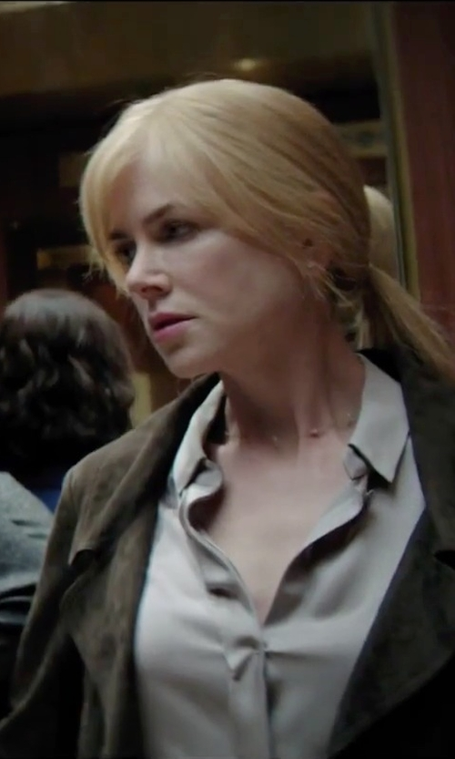 Nicole Kidman with Style Butler Long Sleeve Button Shirt in Secret in Their Eyes