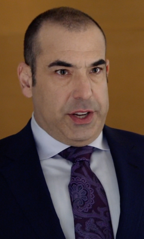 Rick Hoffman with Ermenegildo Zegna Paisley Print Silk Tie in Suits