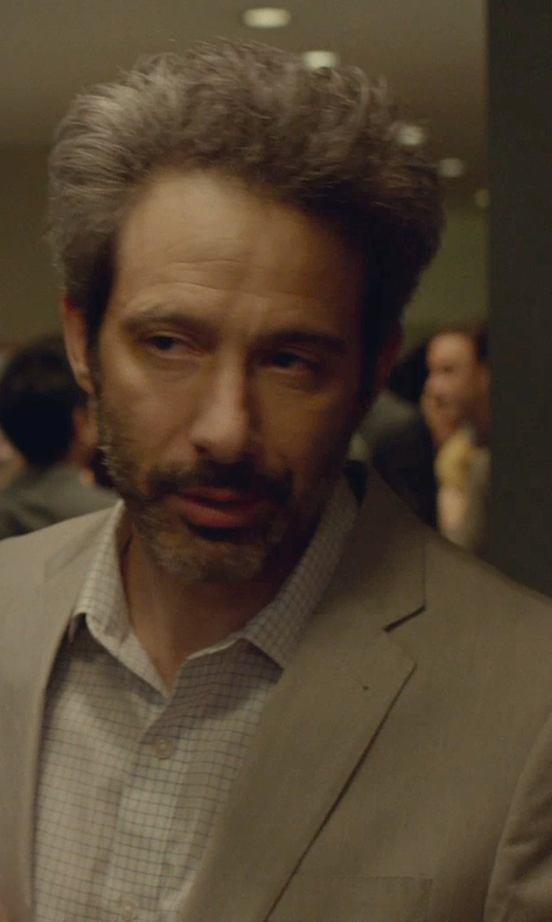 Adam Horovitz with Tasso Elba Island Solid Linen 2-Button Blazer in While We're Young