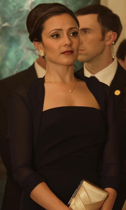 Italia Ricci with Elie Tahari Becca Half-Sleeve Shrug in Designated Survivor
