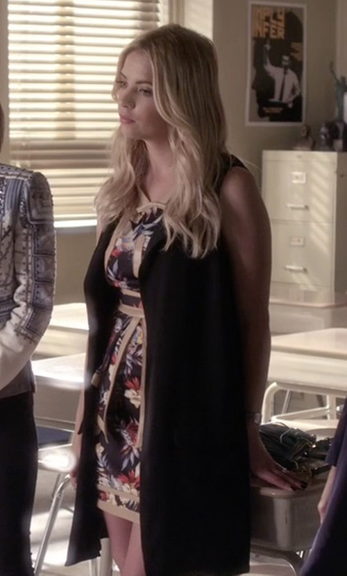 Ashley Benson with Whitney Eve 'The Baths' Strappy Floral Print Dress in Pretty Little Liars