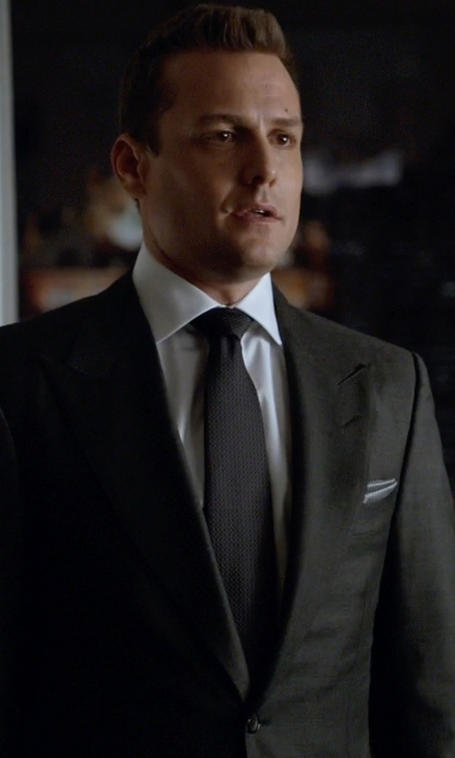 Gabriel Macht with Armani Collezioni Abstract Check Print Pocket Square in Suits