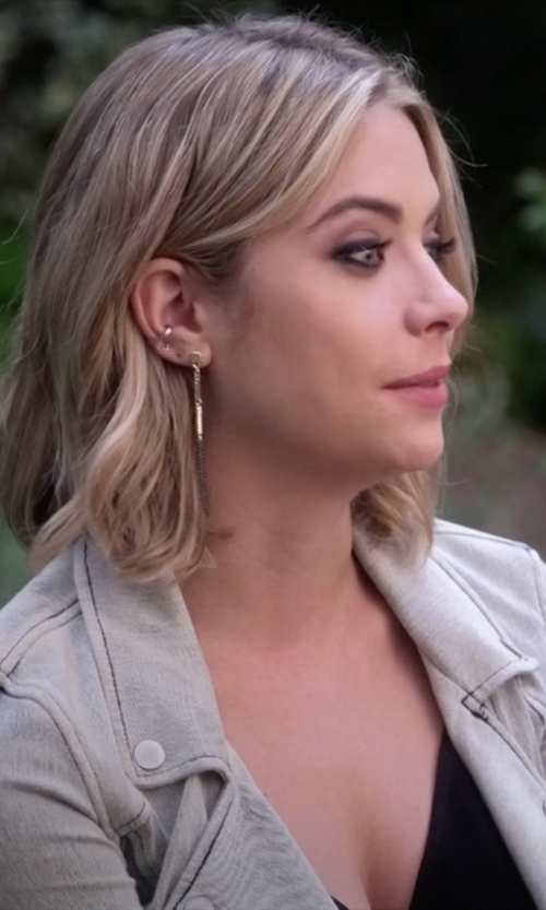 Ashley Benson with Yael Salomon Sharp Ear Cuff in Pretty Little Liars