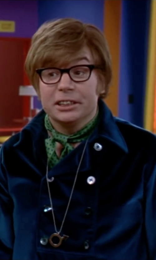 Mike Myers with Forzieri Mini Daisy Print Silk Ascot Tie in Austin Powers in Goldmember