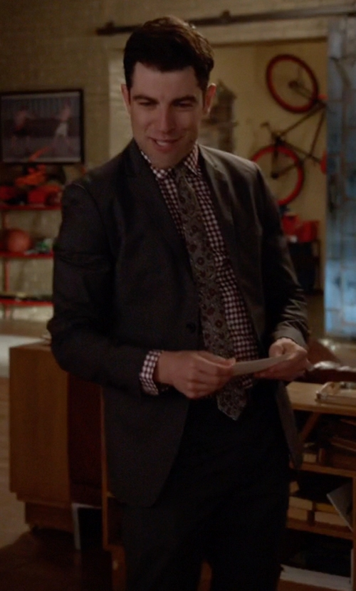 Max Greenfield with Hugo Boss Virgin Wool Two-Button Suit in New Girl