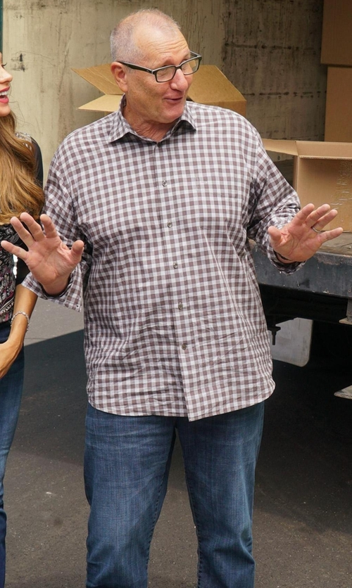 Ed O'Neill with Joe's Jeans Nasri Slim-Fit Denim Jeans in Modern Family