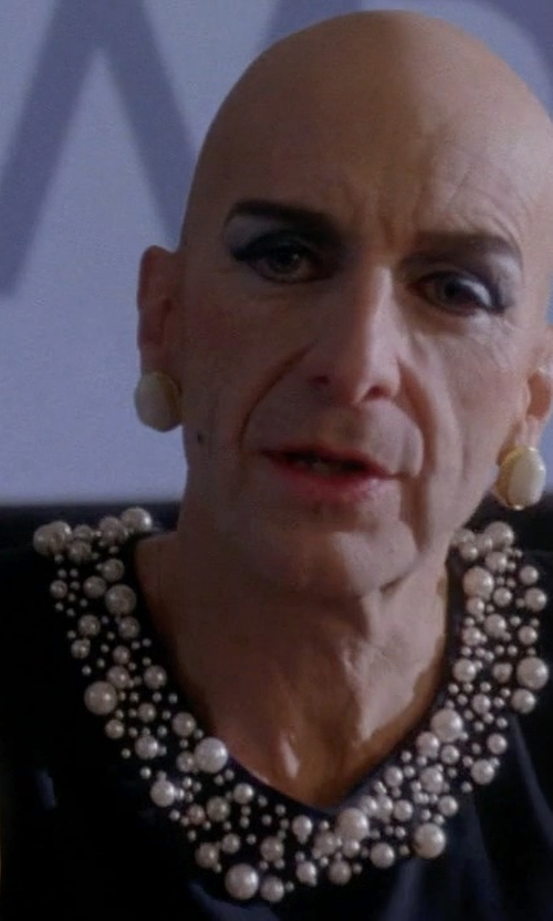 Denis O'Hare with Calvin Klein Pearl-Bead-Trim Sheath Dress in American Horror Story