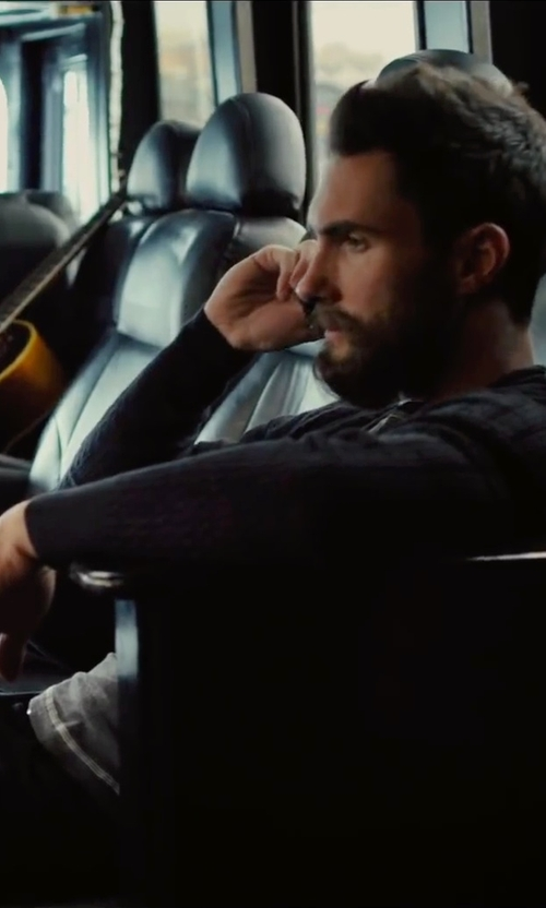 Adam Levine with AllSaints Tonic Long Sleeved Crew T-Shirt in Begin Again