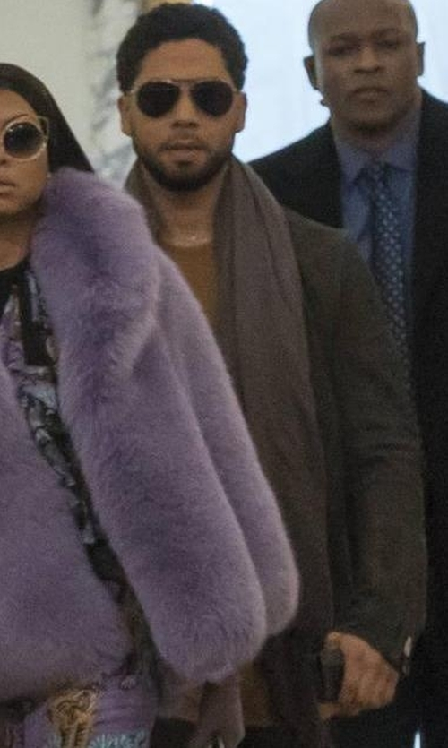 Jussie Smollett with Begg & Co Reversible Cashmere Scarf in Empire