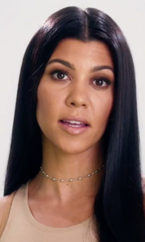 Kourtney Kardashian with Lili Claspe Ellie Choker Necklace in Keeping Up With The Kardashians