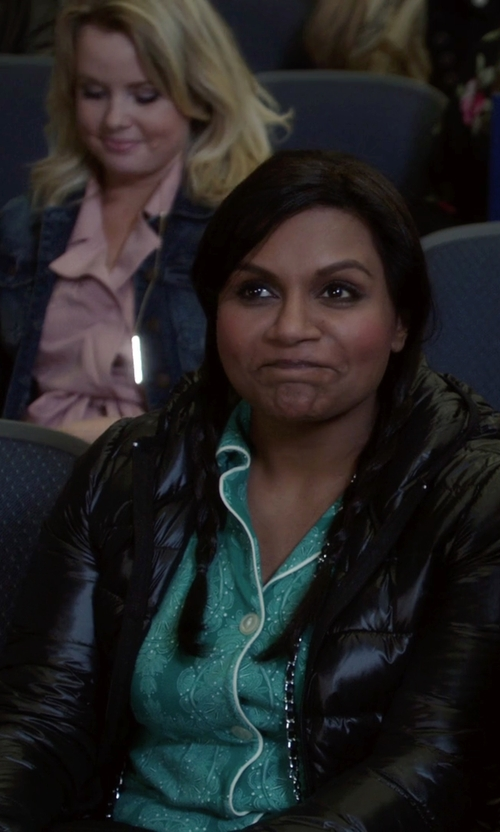 Mindy Kaling with Sam Edelman Packable Down Jacket in The Mindy Project