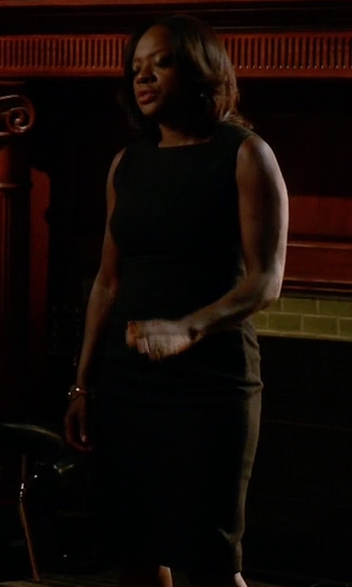 Viola Davis with Vince Classic Sleeveless Dress in How To Get Away With Murder