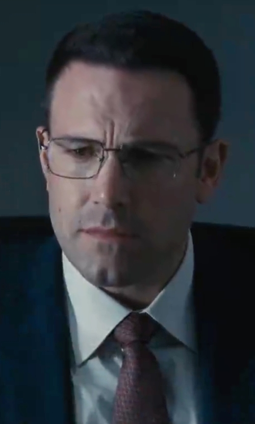 Ben Affleck with Eton of Sweden Textured Silk Tie in The Accountant