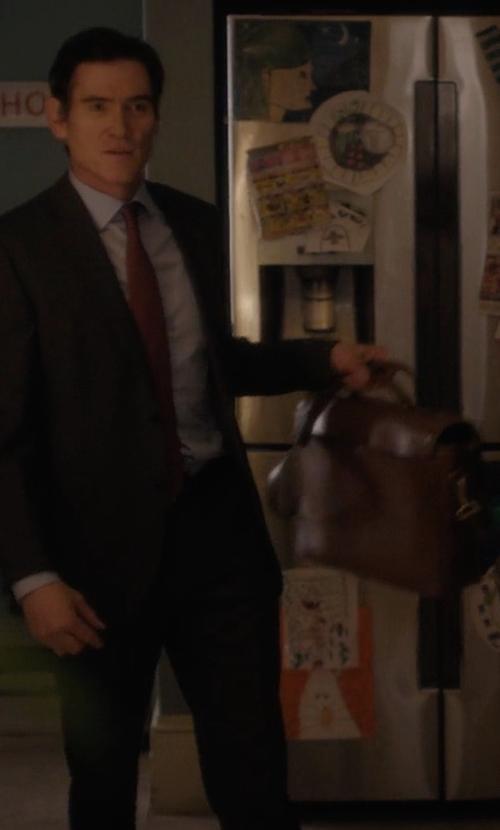 Billy Crudup with Coach Metropolitan Briefcase in Gypsy