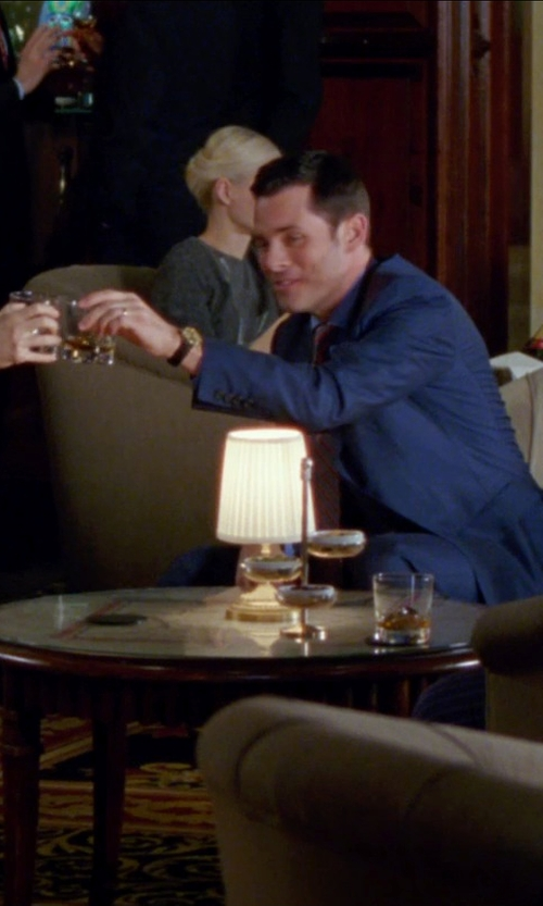 James Marsden with Simon Pearce Ascutney Whiskey Glass in Unfinished Business