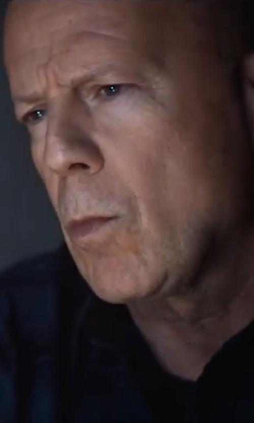 Bruce Willis with Club Monaco Buffalo Check Shirt in Death Wish