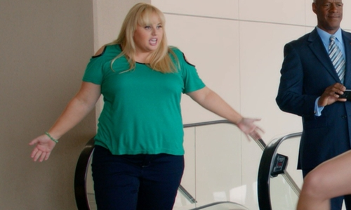 Rebel Wilson with Eloquii Cold Shoulder Top in Pitch Perfect 2