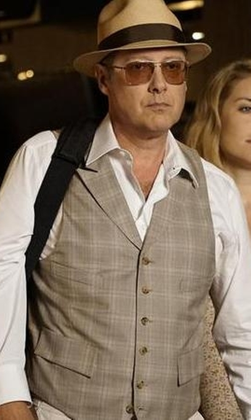 James Spader with Michael Kors Solid Dress Shirt in The Blacklist