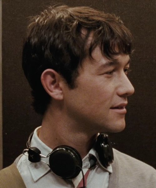 Joseph Gordon-Levitt with WeSC Bongo Headphones in (500) Days of Summer