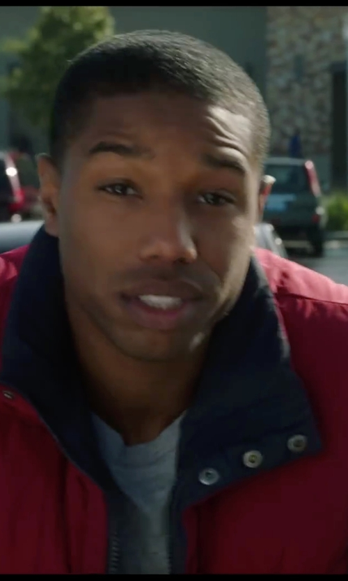 Michael B. Jordan with Weatherproof Solid Microfiber Puffer Vest in Chronicle