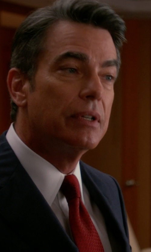 Peter Gallagher with Hugo Textured Silk Tie in The Good Wife