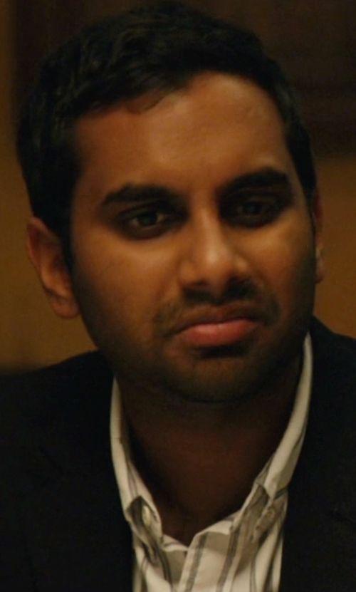 Aziz Ansari with Brooks Brothers Stripe Button-Down Shirt in Master of None