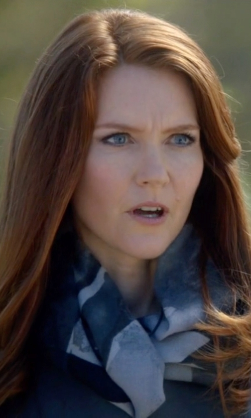 Darby Stanchfield with MCQ Alexander McQueen Printed Scarf in Scandal