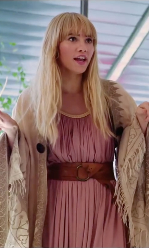 Suki Waterhouse with BCBGMAXAZRIA Shaina Accordion Pleated Dress in Love, Rosie