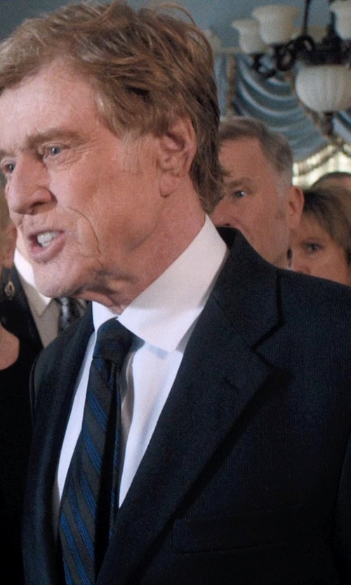 Robert Redford with Hart Schaffner Marx Mixed Stripe Silk Tie in A Walk in the Woods