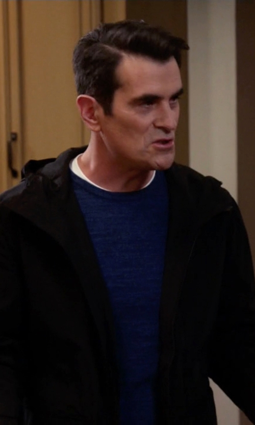 Ty Burrell with Topman Lightweight Hooded Parka Jacket in Modern Family