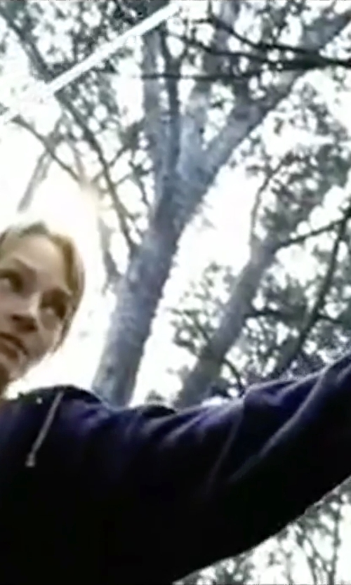 Uma Thurman with Forever 21 Heathered Zip-Up Hoodie in Kill Bill: Vol. 2
