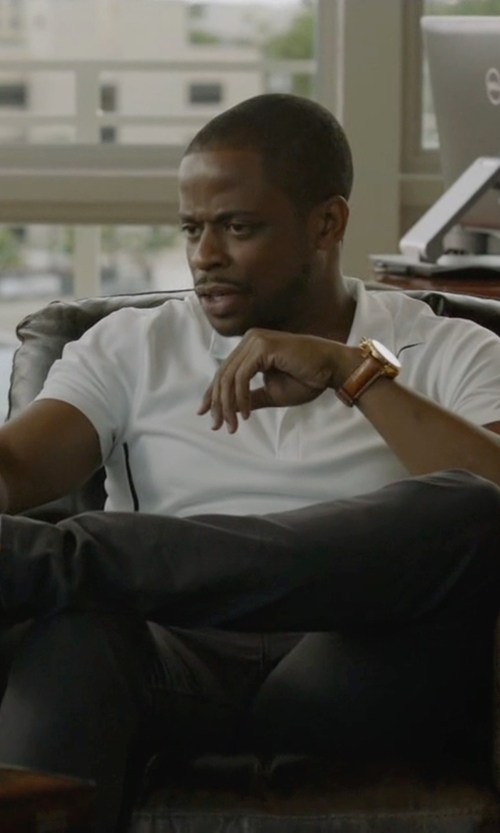 Dulé Hill with Junghans Meister Telemeter Chronoscope Watch in Ballers
