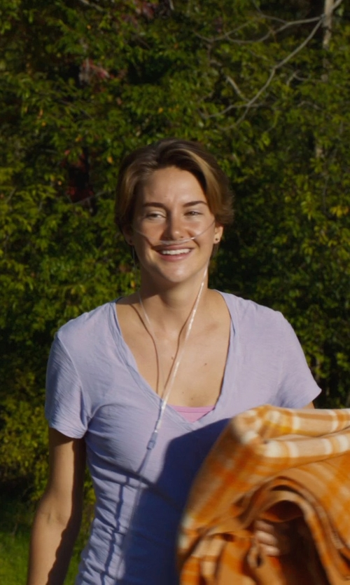 Shailene Woodley with Hurley Women's Solid Nfinitee T-Shirt in The Fault In Our Stars