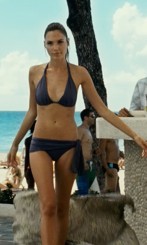 Gal Gadot with Eberjey 'So Solid Rene' Side Tie Bikini Bottoms in Fast Five