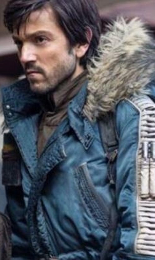 Diego Luna with Columbia Captain Cassian Andor Rebel Parka in Rogue One: A Star Wars Story